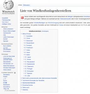 Hauptlieferanten Windkraftanlagen 00